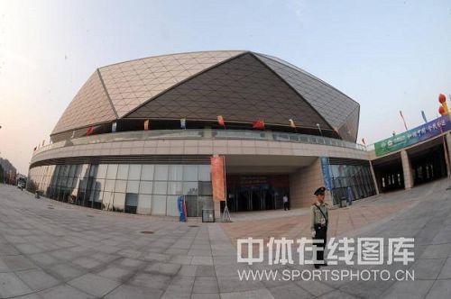 青岛国信体育馆外景 体育馆有立体感[精英乒乓论坛