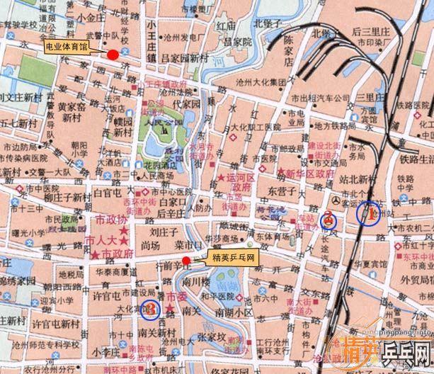 参赛须知:沧州市区地图