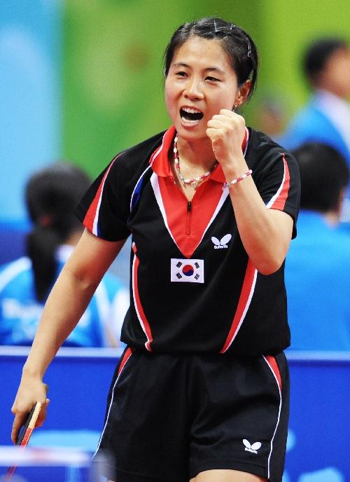 图文 女子团体D组日本0 3韩国 金景娥大声呐喊